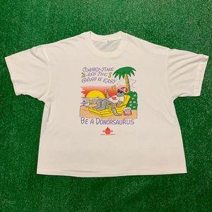 Vintage 90s Summer Beach Blood Single Stitch Shirt